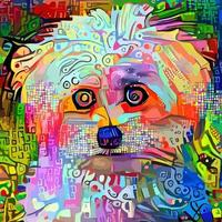 Abstract Artistic Pet Dog Portrait Painting vector