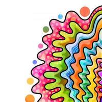 Watercolor Wave Border Decor vector