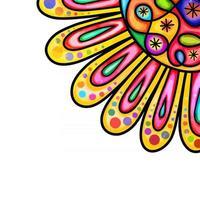 Watercolor Sunflower Border Decor vector