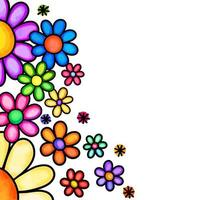 Daisy Flower Page Border vector