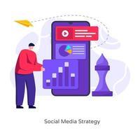 Social Media Strategy vector