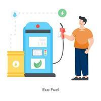 bomba de combustible ecológica vector