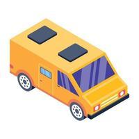 Trendy Camper Van vector