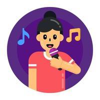 Singing Music Mic vector