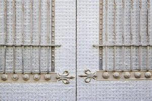 Old medieval metal door photo