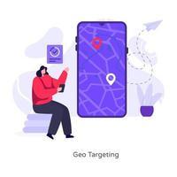 navegación y orientación geográfica vector