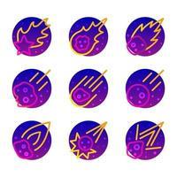 Meteor Rain Icon vector