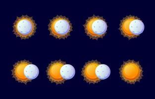 Solar Eclipse Icon vector