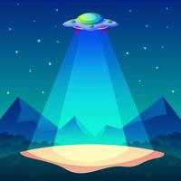 UFO Concept Background vector