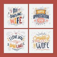 Wife Appreciation Greeting Card  Collection vector