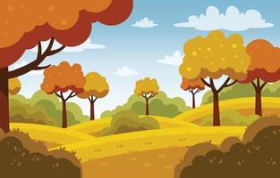 Fall Season Scenery Background vector