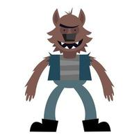 halloween monster cartoon vector design
