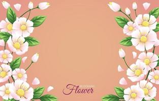 Soft Blooming Flower Background vector