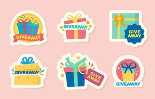 Giveaway Box Collection vector