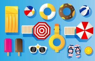 Swimming Pool Elements vector