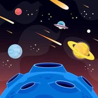 Outer Space UFO Background vector