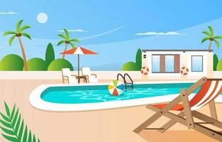 Summer Swimming Pool Background vector