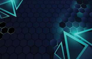 Realistic Abstracts Geometric Background with Hexagonal Shape vector
