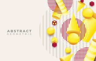 Geometric Three Dimensional Abstract Background vector