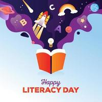 Happy Literacy Day vector