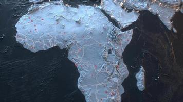 kaart wereld wereld aardrijkskunde 3d animatie planeet globaal virus en oorlog verspreid concept hd 4k video