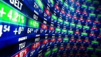Stock market video animation market finance business data