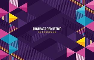 fondo geométrico colorido vector