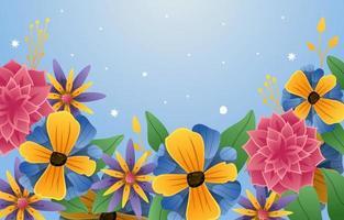 Elegant Blooming Flower Background Concept vector