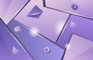 Realistic 3D Pastel Purple Background vector