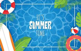 Swimming Pool Background With Summer Vibe vector