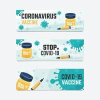 estandarte de la vacuna covid 19 vector