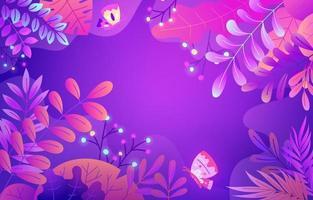 Beautiful Pastel Purple Floral Background vector