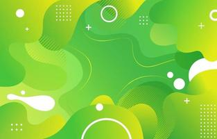Abstract Gradient Green Background vector