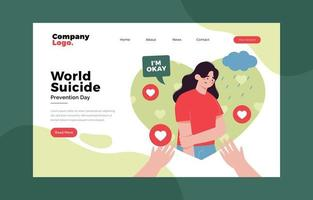 World Suicide Prevention Day Landing Page vector