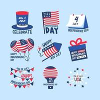 4th of July Icon and Sticker vector