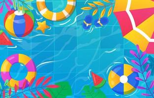 Swimming Activity Background vector
