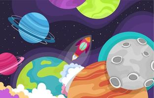 Wonderful Space Concept vector