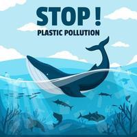 detener la campaña de plástico vector