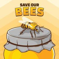 salva nuestras abejas vector