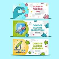 Covid 19 Vaccines Banner Collection vector