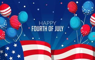 Festivity of the Fourth of July Concept vector