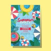 invitación a la fiesta en la piscina vector