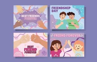 Friendship Day Card Collections vector