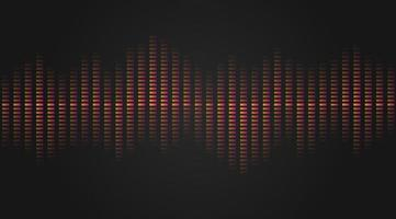 Musical equalizer, sound settings, digital graphics of sound track. Financial schedule, exchange monitoring, currency rate trends. Linear wide horizontal chart bar. Pulse vector isolated illustration.