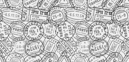 Postal stamps seamless pattern vector background template