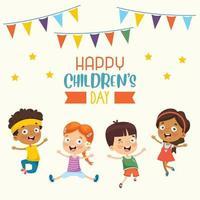 Concept Of Happy Children's Day vector