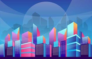 Modern City Skycrapers Background vector