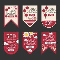 Mid Autumn Sale Badge Label Set vector