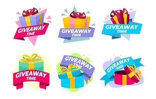 Giveaway Sticker Pack Set Template vector
