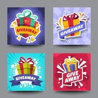 Giveaway Card Set Template vector